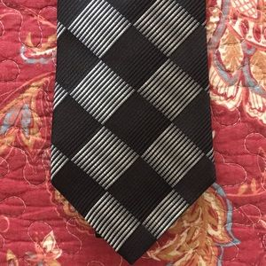 Murano Black & gray silk tie